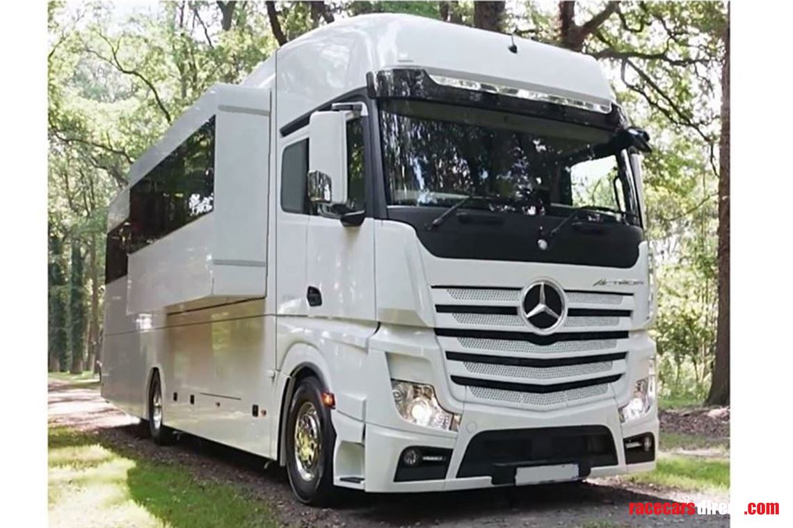 Luxury Merc Motorhome, Slide out and Car Garage