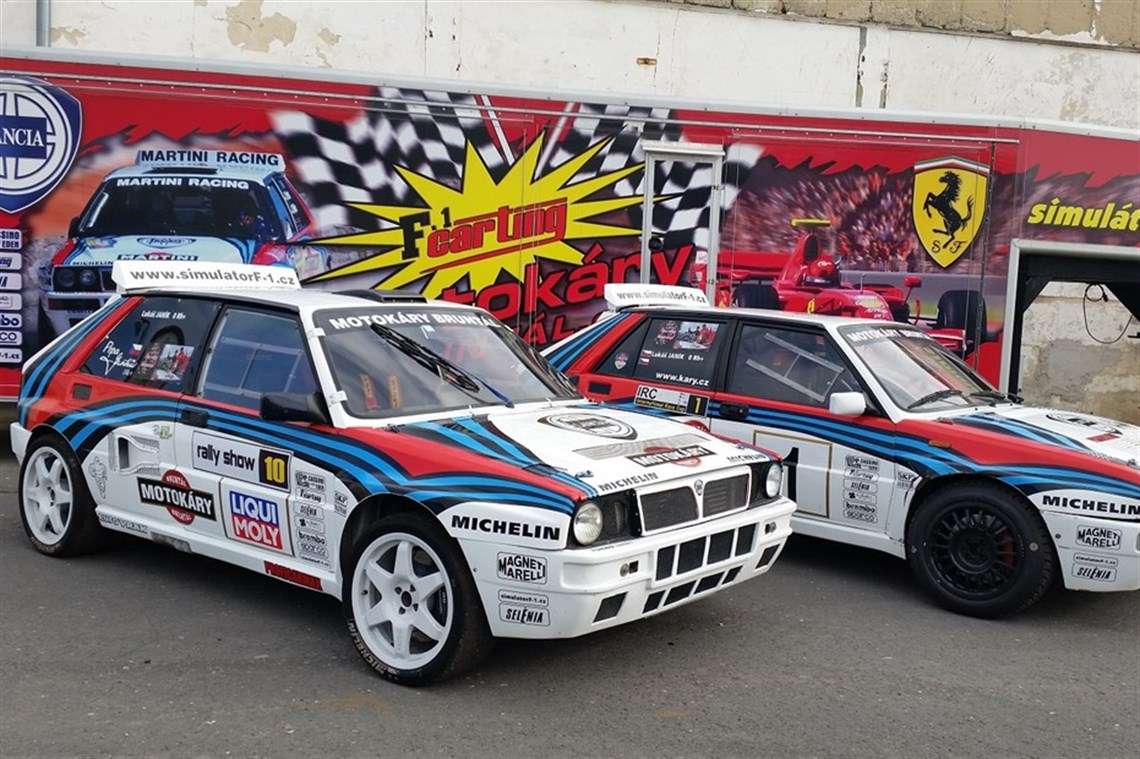 Racecarsdirect.com - 2 Lancia Delta with more parts, wheels for sale