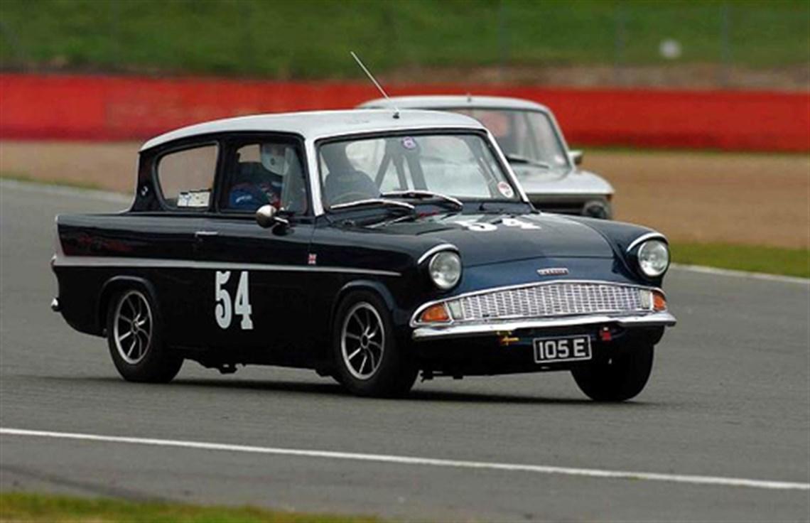 1960 ford anglia 105e race rally car goodwoo
