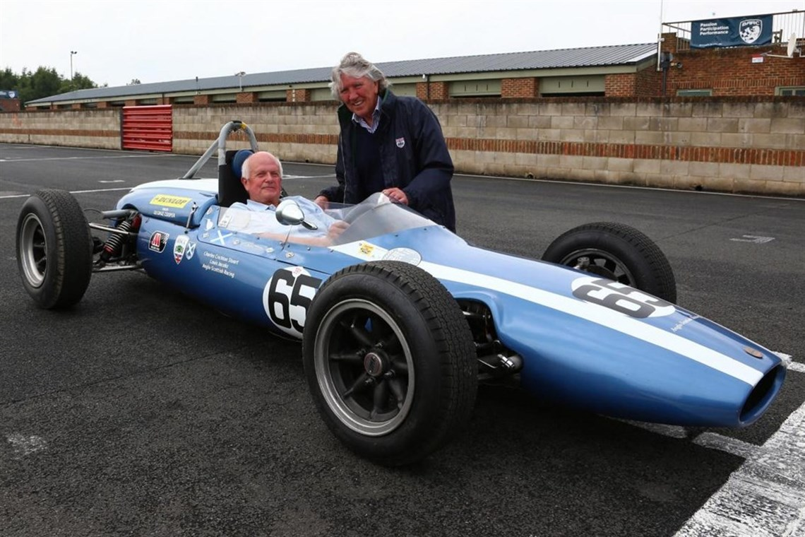 Jeremy Bouckley & Graham Birrell, both of whom competed in the inaugural event held at Croft Autodrome on 3 August 1964