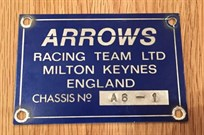 arrows-f1-chassis-plate