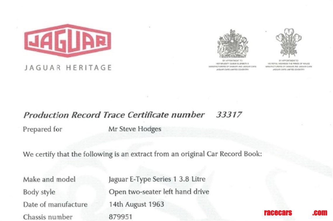 Racecarsdirect com - 1963 JAGUAR E TYPE SEMI-LIGHTWEIGHT FIA