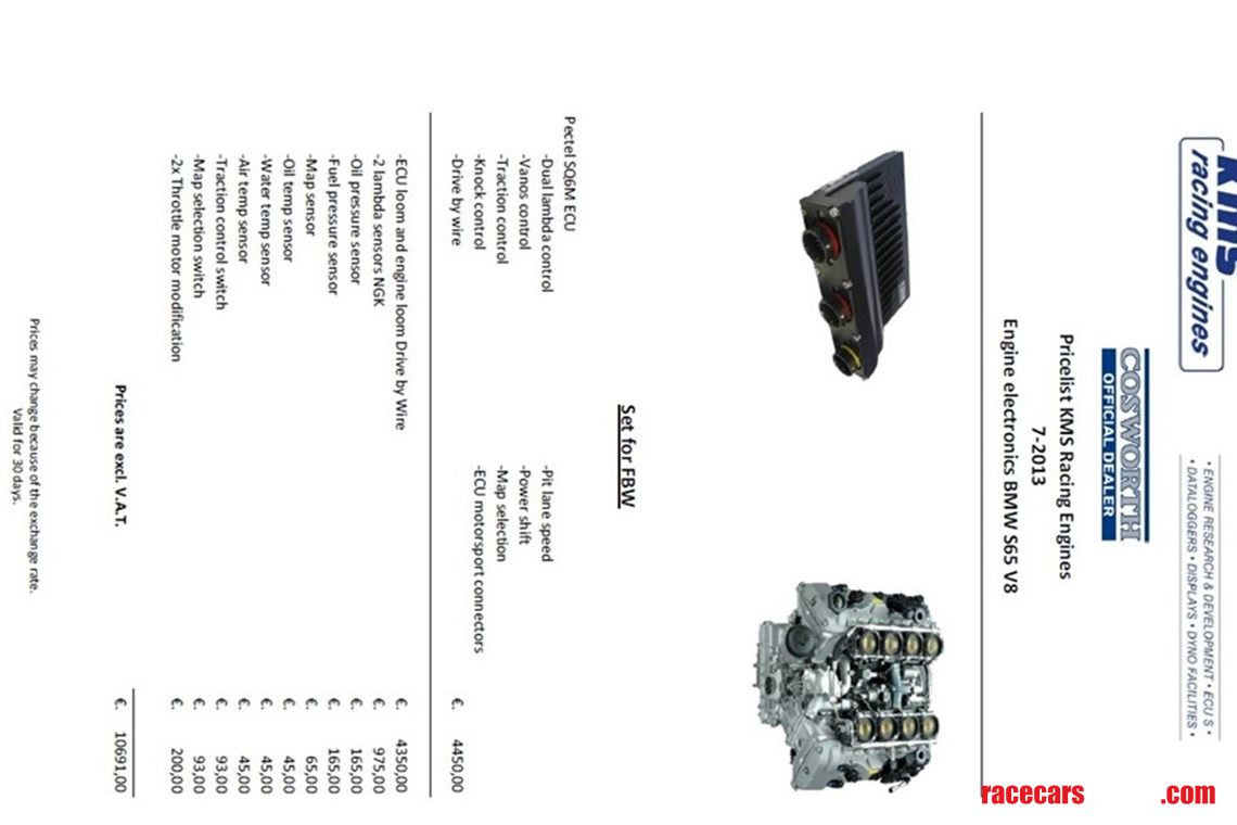 Cosworth Sq6m For Bmw M3 E92 V8 With Complete Lambda Wiring
