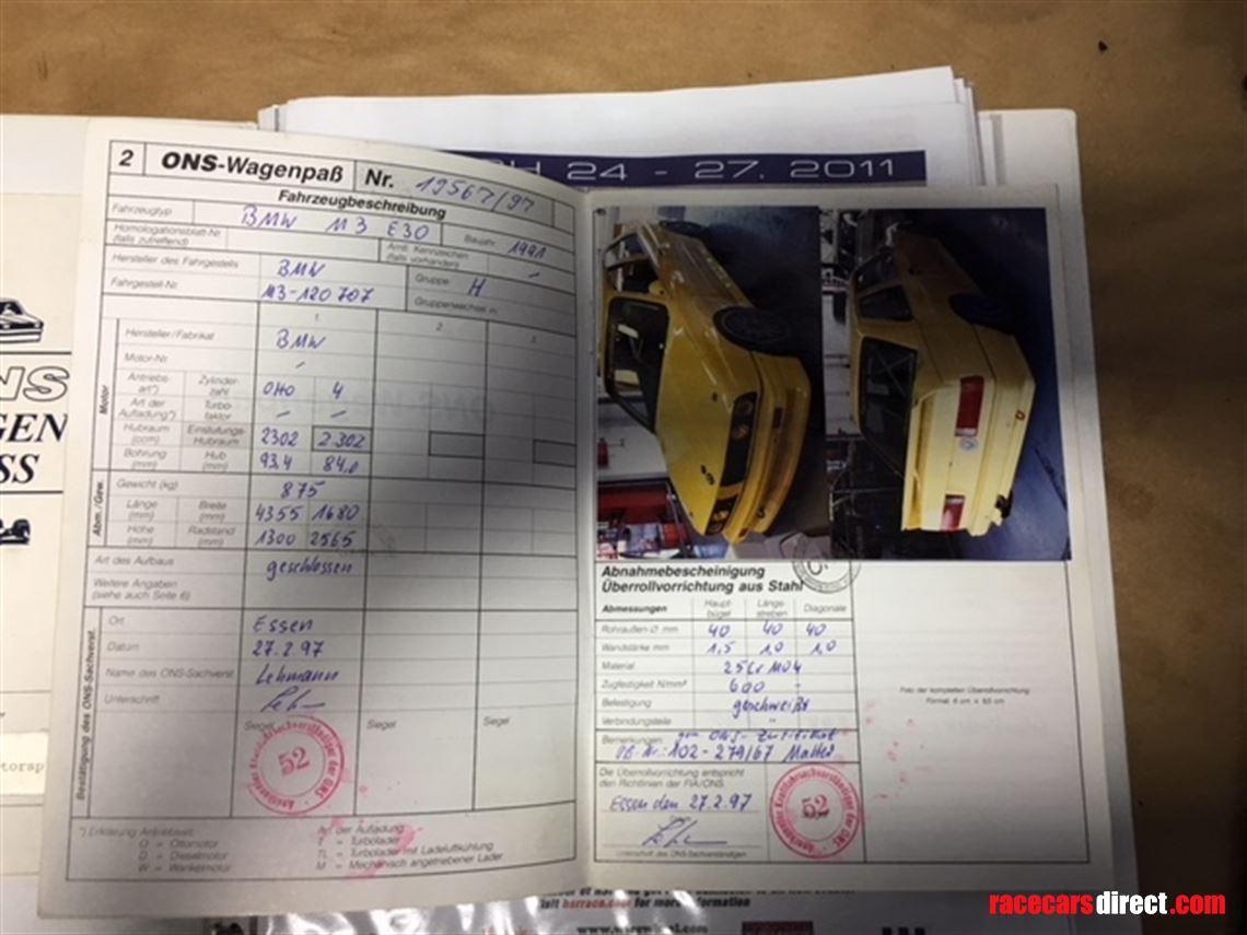 Racecarsdirect com - Schnitzer BMW M3 E30 DTM 1991