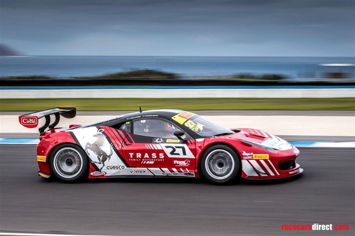 Racecarsdirect Com Rare Ferrari 458 Gt3 As New Condition Suit